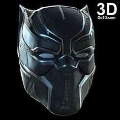 3D Printable Model: Black Panther Helmet V2.5, Necklace, Claws from Captain America Civil War | File Formats: STL OBJ – Do3D.com