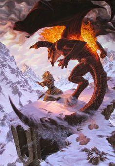 Gandalf the Grey faces the Balrog of Morgoth atop Celebdil. Jrr Tolkien, Tolkien Books, Hobbit Art, O Hobbit, Legolas, Gandalf Balrog, Thranduil, High Fantasy, Fantasy Art