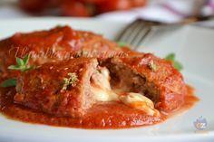 sofficini di carne alla pizzaiola, con carne bovina di razza piemontese macinata, mozzarella, passata di pomodoro di qualità, per un secondo appetitoso.