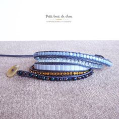 A handmade bracelet in high quality materials made with lots of love! See the details below: **SIZE** This bracelet is designed to comfortably fit a 15.5cm to 17.5cm wrist when wrapped five times. It has three loop closures so you can adjust it to the perfect fit and simply cut the