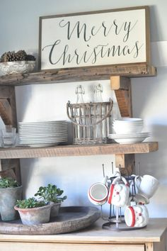 Love the shelves and that sign!