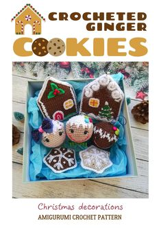 Crochet pattern Christmas tree balls, Amigurumi Christmas Decor - Gingerbread cookies