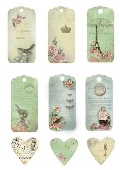 Spring time tags for personal use only