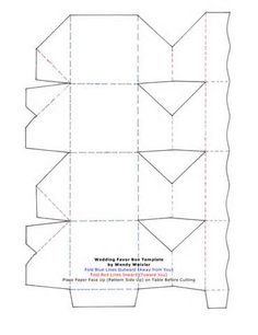 Die Cutting Image Of Window Box Template No   Structures