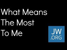 What Means The Most To Me - Lyrics JW Full Song - YouTube