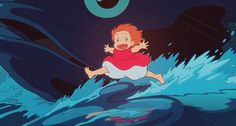 Ponyo (2008, dir. Hayao Miyazaki) is so sweet and cute and maaaagical!