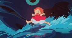 Ponyo (2008, dir. Hayao Miyazaki) is so sweet and cute and maaaagical!