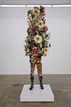 Nick Cave, Soundsuit, 2008. Fabric, fiberglass, and metal, 102 x 36 x 28 inches.