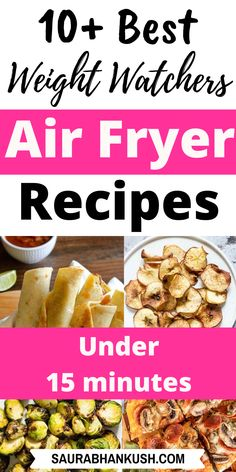 10 Weight Watchers Air Fryer Recipes with Points - WW Air Fryer Freestyle Meals - SaurabhAnkush Air Fryer Oven Recipes, Air Frier Recipes, Air Fryer Dinner Recipes, Appetizer Recipes, Air Fryer Recipes Weight Watchers, Weight Watchers Desserts, Ww Recipes, Cooking Recipes, Healthy Recipes
