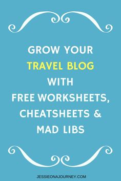 Travel Blogging Tips | How to start a travel blog | Free Blogging Resources | Blogging Advice