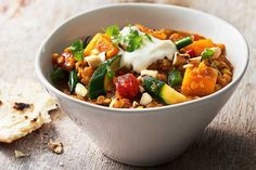 Red lentils make this curry hearty and act as a natural thickener.