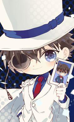 Anime Chibi, Kawaii Anime, Manga Anime, Anime Art, Conan Comics, Detektif Conan, Detective Conan Shinichi, Detective Conan Wallpapers, Kaito Kuroba