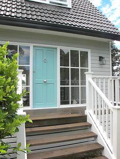 I love this color scheme for a house exterior. Georgica Pond