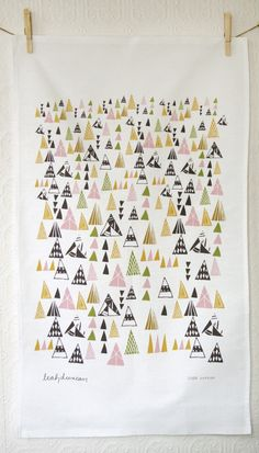 Triangles Tea Towel. $18.00, via Etsy.