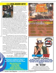 Smoke, Wind, Fire Car Show, Ride of the Brotherhood, Publishers Note