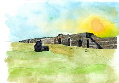 illustration for an archaeological site