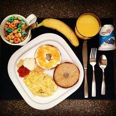 #Desayuno variado y lleno de color para una mañana gris en #Boston #MorningBreakfast #TripToUSA