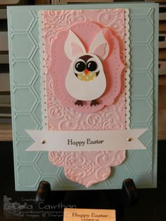 Stampin' Up! Owl Punch as the Easter Bunny