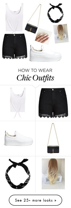"""""""ll"""" by elezovicnaida on Polyvore featuring Splendid, City Chic, Windsor Smith, Yves Saint Laurent, New Look and paintsplatter"""