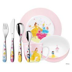 WMF Stainless Steel Disney Princess Child's Set for sale online 2nd Baby, Baby Boy, Walt Disney, Property Branding, Home And Garden Store, Disney Kitchen, Wmf, Dinner Sets, Measuring Spoons