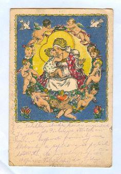 Christmas Postcards, Cherubs, Czech Republic, Tween, Gnomes, Catholic, Vintage World Maps, Baby Boy, Animation
