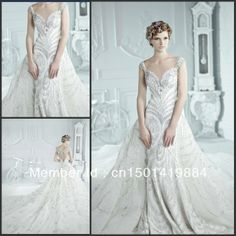 Sparkly a-line sexy organza stain sweetheart beaded crystal Acrylic diamond floor length classic wedding dresses wedding gowns $378.00