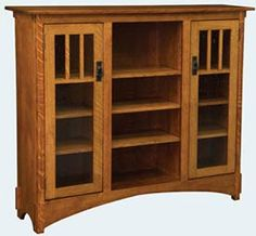 33% OFF Amish Furniture - Hand Crafted Shaker and Mission Furniture Online Outlet Store: Mission Display Bookcase: Oak