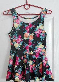 baskinka kwiaty lato maffashion new look S/M Tank Tops, Women, Fashion, Moda, Halter Tops, Fashion Styles, Fashion Illustrations