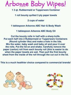 Arbonne baby wipes. Chemical and toxin free!