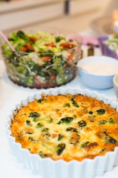 Veggie Recipes, New Recipes, Low Carb Recipes, Healthy Recipes, Veggie Food, Healthy Food, Lchf, Broccoli, Quiche
