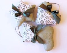 3 Christmas Ornaments with Vintage Rickrack Lace