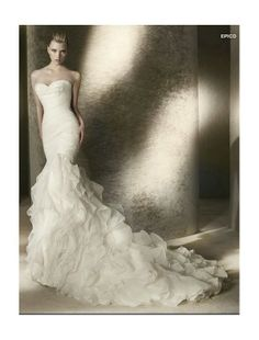 strapless sweetheart mermaid wedding dress