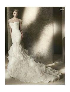 strapless sweetheart mermaid wedding dress