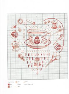 tea cross stitch chart