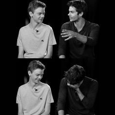 Thomas Sangster . The maze runner. The scorch trials.  Dylan O'brien