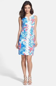 64491aa59d3c Lilly Pulitzer®  Janice  Lace Trim Cotton Piqué Shift Dress available at   Nordstrom