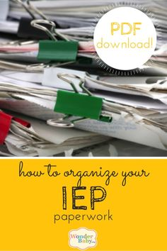 Are you looking for a printable IEP organizer designed specifically to help you plan and arrange all your documents and paperwork so you can actually be in charge of your child's IEP?