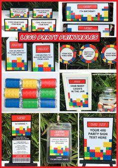 Lego Birthday Party Printables Collage