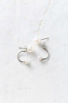 Front/Back Pearl Post Earring