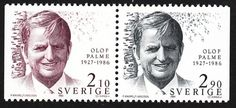 Olof Palme (1927–1986) Swedish 3+3 pair