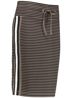 Studio Anneloes rene stripe skirt 00942 Dames kleding Rokjes khaki € 89,95 ✔  Direct leverbaar uit de webshop van Express Wear