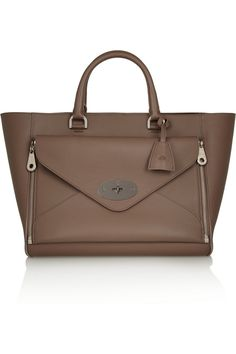 The front pouch is detachable & can be used as a clutch Mulberry | The Willow leather tote | NET-A-PORTER.COM