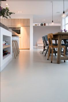 You can find ideas and inspiration at Wonen. Floor Design, House Design, Interior Design Boards, Living Room Flooring, New Home Designs, Concrete Floors, Interior Architecture, Building A House, Sweet Home