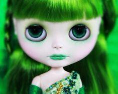 RESERVED for Sarah 2nd Custom Blythe doll Opal by BigEyesBlythe
