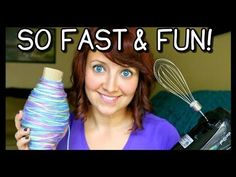HOW TO ROLL YARN INTO A BALL  FAST! | CROCHET & KNITTING TIPS! - YouTube