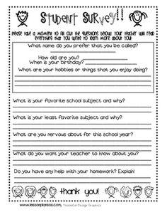 teacher surveys for students