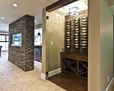 Change the shelving and doors to create wine storage in the space of an existing closet