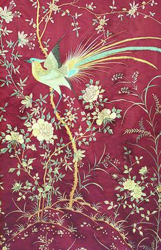 Vintage Textiles / Chinese hand embroidered wall hanging