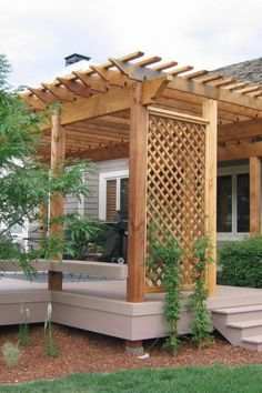 The pergola you choose will probably set the tone for your outdoor living space, so you will want to choose a pergola that matches your personal style as closely as possible. The style and design of your PerGola are based on personal Diy Pergola, Building A Pergola, Pergola Canopy, Metal Pergola, Deck With Pergola, Outdoor Pergola, Pergola Shade, Pergola Lighting, Metal Roof