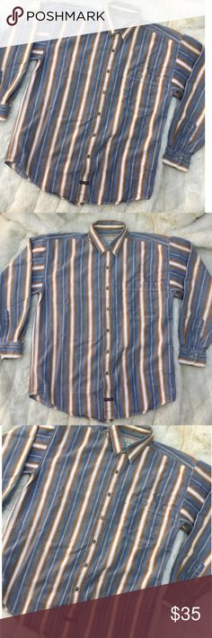 VINTAGE ARIZONA JEAN STRIPED BUTTON UP LONG SLEEVE Size medium. 100% cotton. Arizona Jean Company. Western vintage style button up pin stripe pattern. Good condition minimal wear no significant flaws or stains. FREE SURPRISE GIFT WITH EVERY ORDER! Vintage Shirts Casual Button Down Shirts